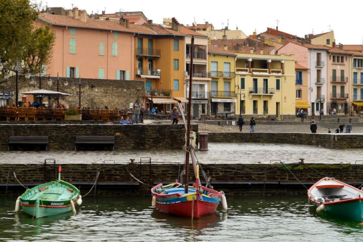 the harbor in Collioure.